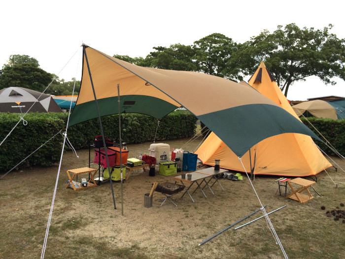 たまたまBIWAKOアウトドアフェスタキャンプ@マイアミ浜 二日目