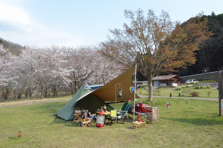 花見キャンプ2014@奈良、 その1