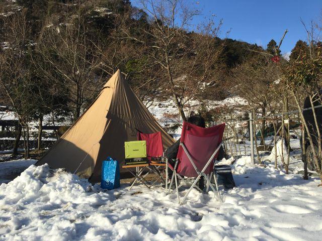 年末キャンプ@青川峡