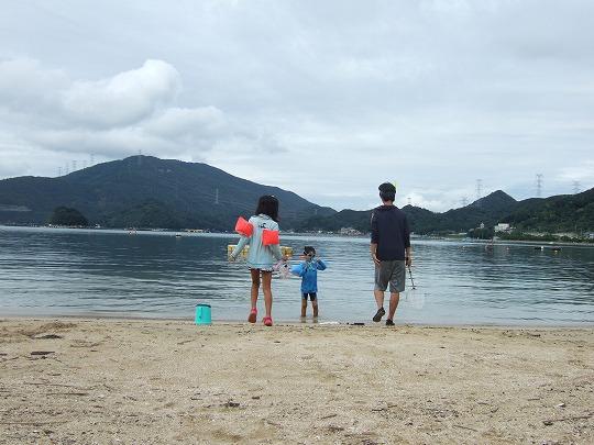 赤礁崎2~3日目、塩浜海水浴場、雨撤収