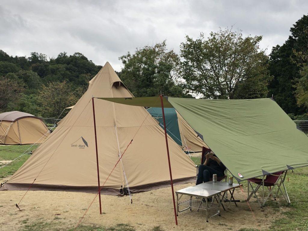 夏の終わりキャンプ@十二坊温泉ゆらら