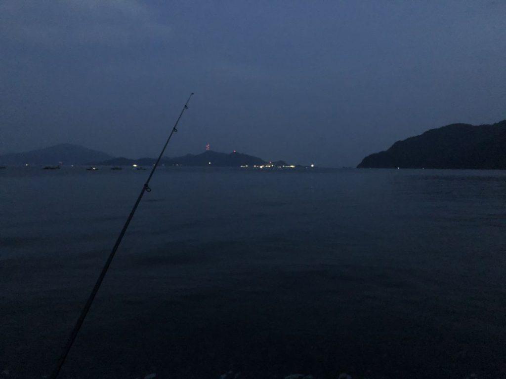 福井県小浜近辺にてキス釣り(2020/8/9)
