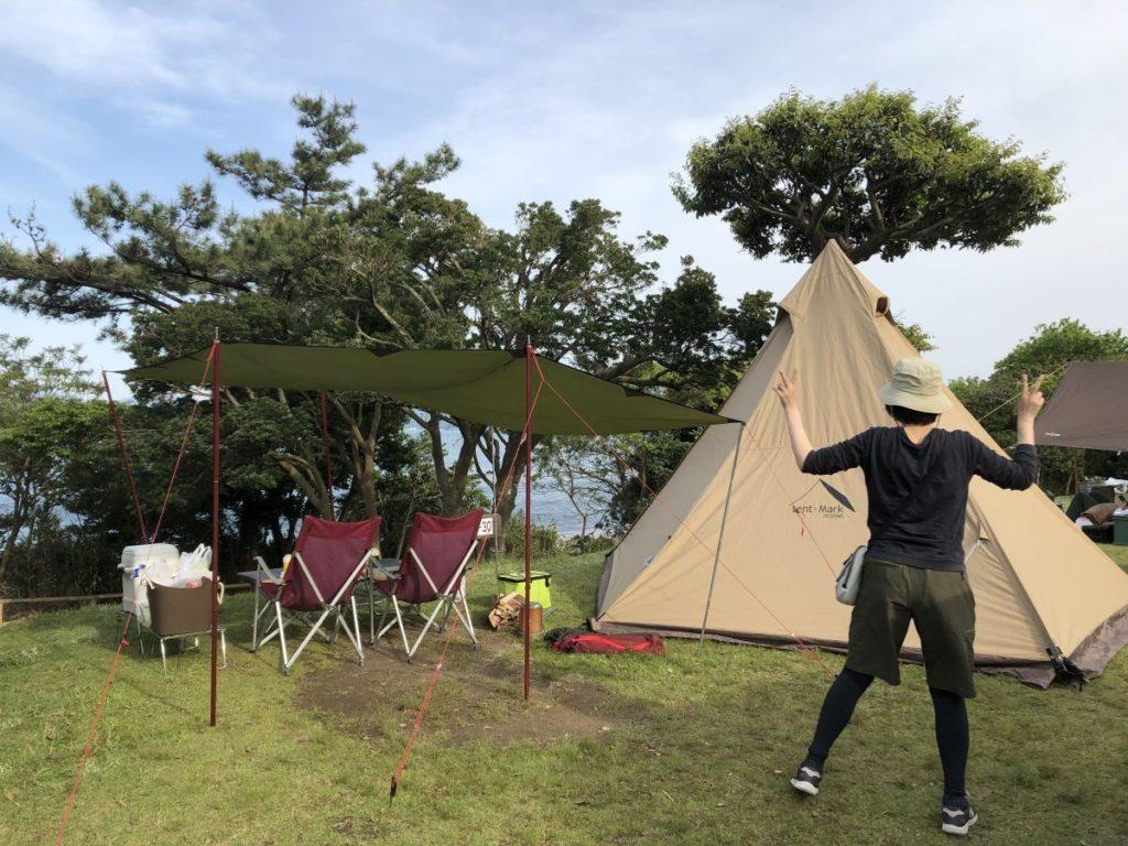 赤礁崎オートキャンプ場(2021/5/4-5)